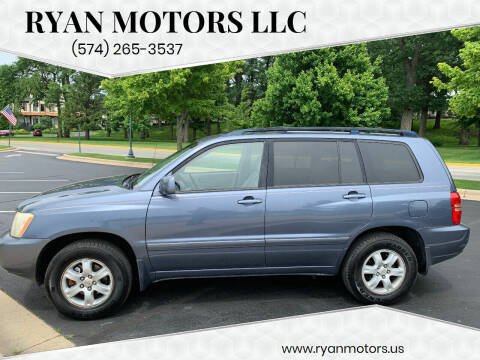 2003 Toyota Highlander for sale at Ryan Motors LLC in Warsaw IN