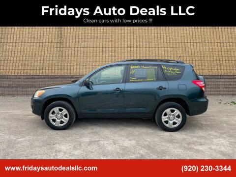 2010 Toyota RAV4 for sale at Fridays Auto Deals LLC in Oshkosh WI