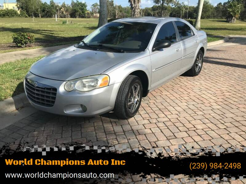 2004 Chrysler Sebring for sale at Used Cars Cape Coral -- World Champions Auto Inc in Cape Coral FL