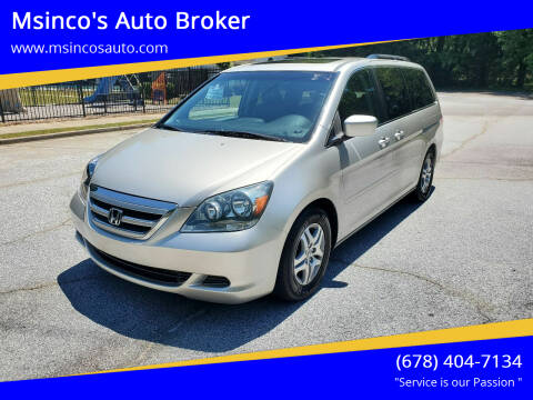 2005 Honda Odyssey for sale at Msinco's Auto Broker in Snellville GA