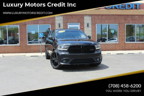 2016 Dodge Durango for sale at Luxury Motors Credit Inc in Bridgeview IL
