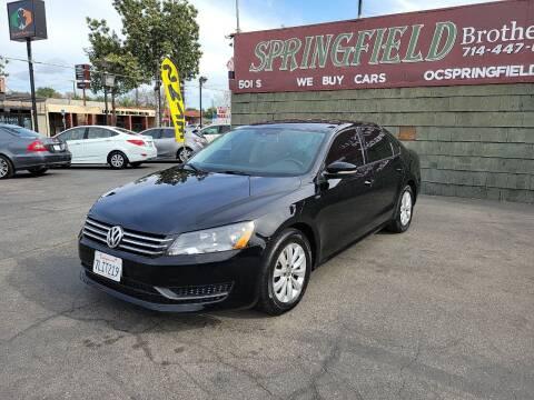 2014 Volkswagen Passat for sale at SPRINGFIELD BROTHERS LLC in Fullerton CA