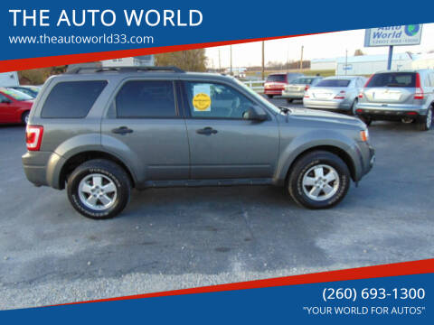 2012 Ford Escape for sale at THE AUTO WORLD in Churubusco IN