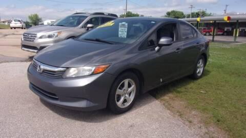 2012 Honda Civic for sale at 6 D's Auto Sales MANNFORD in Mannford OK