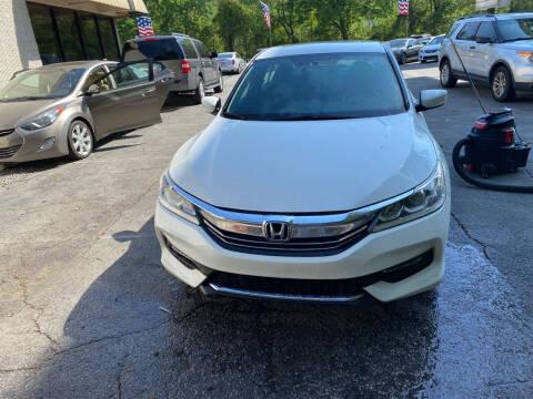 2016 Honda Accord for sale at J Franklin Auto Sales in Macon GA