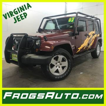 2007 Jeep Wrangler Unlimited for sale at Frogs Auto Sales in Clinton IA