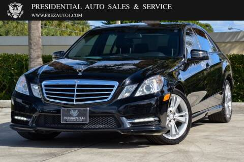 2013 Mercedes-Benz E-Class for sale at Presidential Auto  Sales & Service in Delray Beach FL