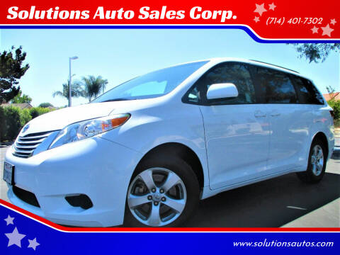 2017 Toyota Sienna for sale at Solutions Auto Sales Corp. in Orange CA