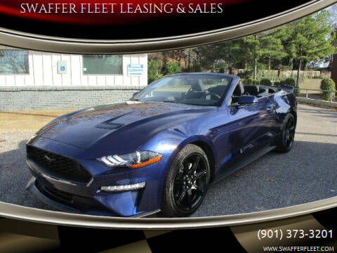 2019 Ford Mustang for sale at SWAFFER FLEET LEASING & SALES in Memphis TN