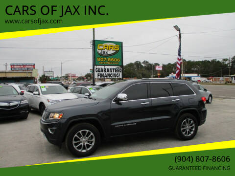 2014 Jeep Grand Cherokee for sale at CARS OF JAX INC. in Jacksonville FL