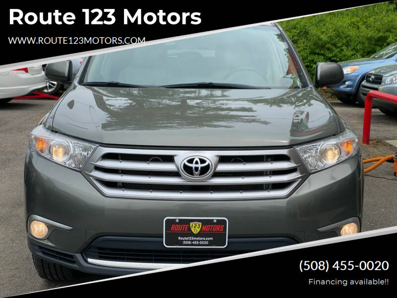2012 Toyota Highlander for sale at Route 123 Motors in Norton MA