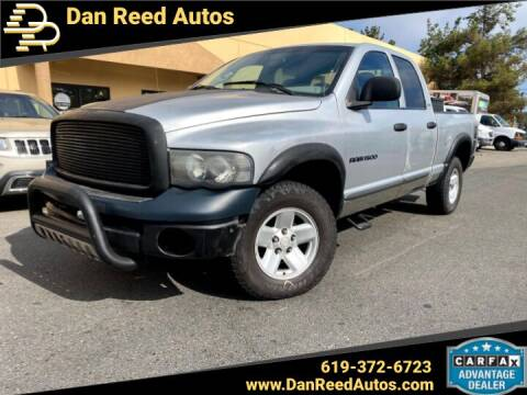 2002 Dodge Ram Pickup 1500 for sale at Dan Reed Autos in Escondido CA