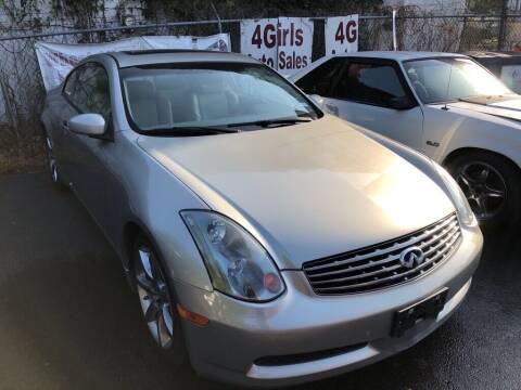 2004 Infiniti G35 for sale at 4 Girls Auto Sales in Houston TX