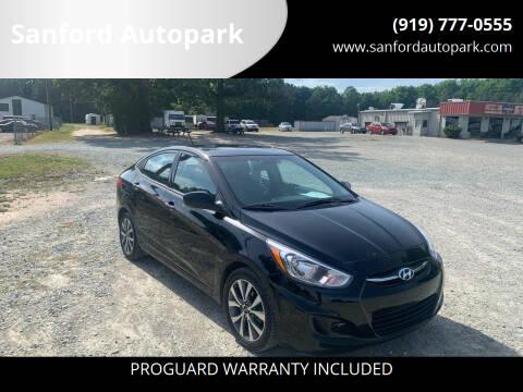 2017 Hyundai Accent for sale at Sanford Autopark in Sanford NC