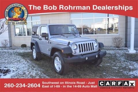 2017 Jeep Wrangler for sale at BOB ROHRMAN FORT WAYNE TOYOTA in Fort Wayne IN