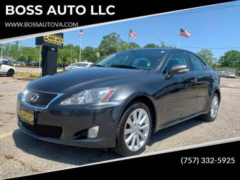 2010 Lexus IS 250 for sale at BOSS AUTO LLC in Norfolk VA