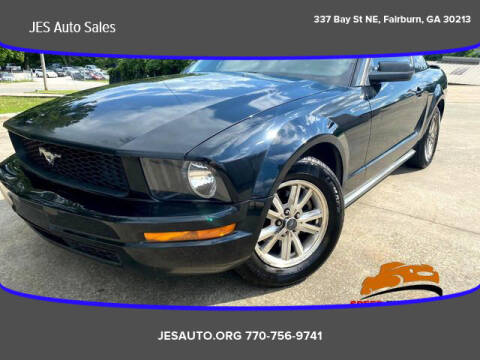 2007 Ford Mustang for sale at JES Auto Sales LLC in Fairburn GA