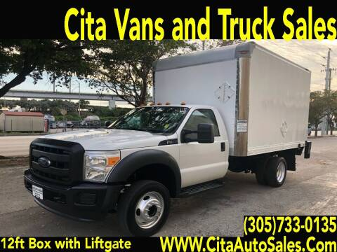 2015 FORD F-450 SD 12 FT BOX TRUCK LIFTGATE for sale at Cita Auto Sales in Medley FL