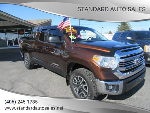 2016 Toyota Tundra for sale at Standard Auto Sales in Billings MT
