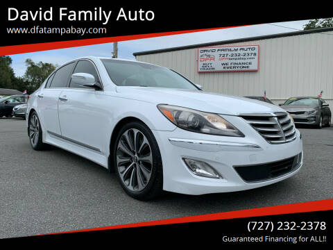 2013 Hyundai Genesis for sale at David Family Auto in New Port Richey FL