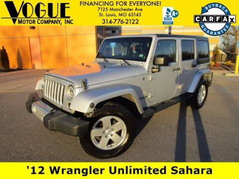 2012 Jeep Wrangler Unlimited for sale at Vogue Motor Company Inc in Saint Louis MO