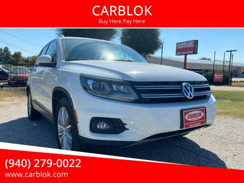 2016 Volkswagen Tiguan for sale at CARBLOK in Lewisville TX