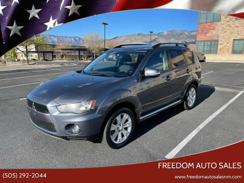 2012 Mitsubishi Outlander for sale at Freedom Auto Sales in Albuquerque NM