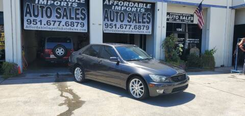 2003 Lexus IS 300 for sale at Affordable Imports Auto Sales in Murrieta CA