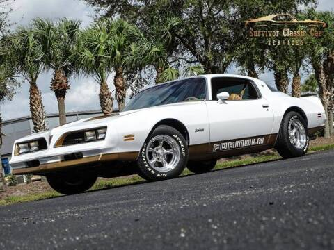 1978 Pontiac Firebird for sale at SURVIVOR CLASSIC CAR SERVICES in Palmetto FL