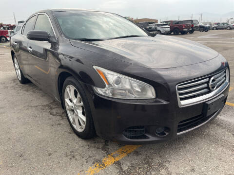 2013 Nissan Maxima for sale at BELOW BOOK AUTO SALES in Idaho Falls ID