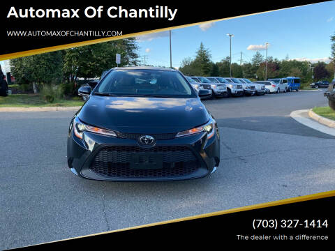 2020 Toyota Corolla for sale at Automax of Chantilly in Chantilly VA