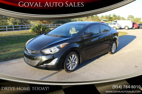 2015 Hyundai Elantra for sale at Goval Auto Sales in Pompano Beach FL