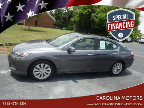 2014 Honda Accord for sale at CAROLINA MOTORS in Thomasville NC