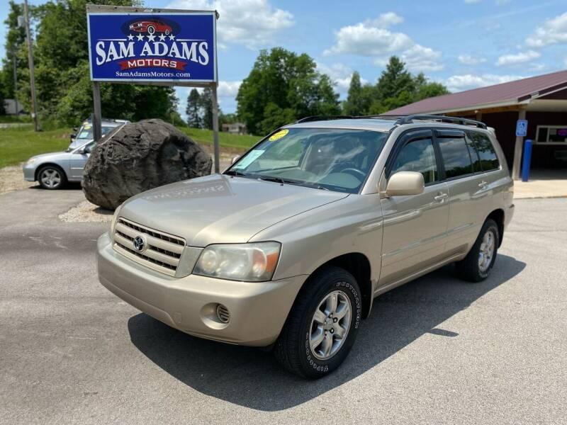 2007 Toyota Highlander for sale at Sam Adams Motors in Cedar Springs MI