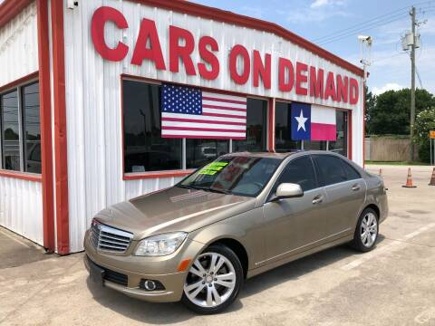 2009 Mercedes-Benz C-Class for sale at Cars On Demand 2 in Pasadena TX