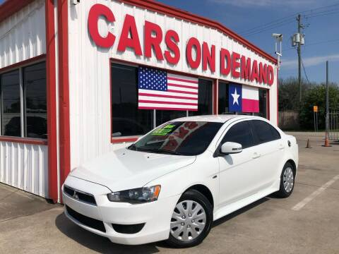 2015 Mitsubishi Lancer for sale at Cars On Demand 2 in Pasadena TX
