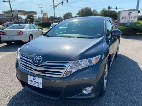 2010 Toyota Venza for sale at Auto Union LLC in Virginia Beach VA