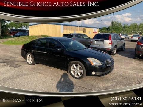 2004 Nissan Maxima for sale at Sensible Choice Auto Sales, Inc. in Longwood FL
