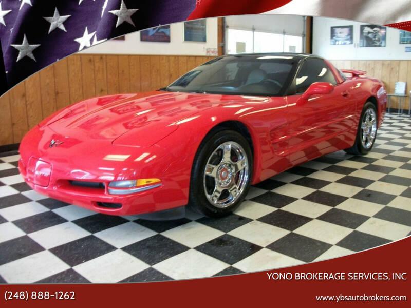 1998 Chevrolet Corvette for sale at Yono Brokerage Services, INC in Farmington MI