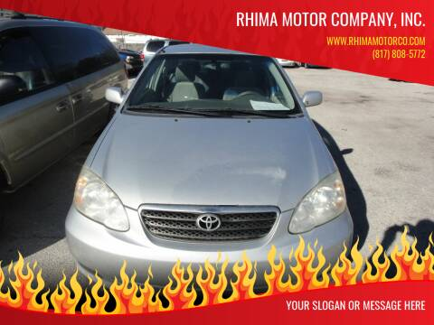 2006 Toyota Corolla for sale at Rhima Motor Company, Inc. in Haltom City TX