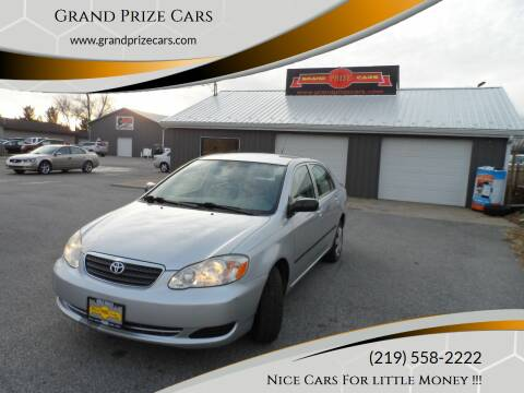 2007 Toyota Corolla for sale at Grand Prize Cars in Cedar Lake IN
