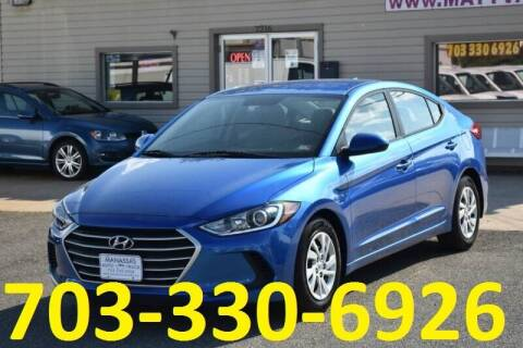 2017 Hyundai Elantra for sale at MANASSAS AUTO TRUCK in Manassas VA
