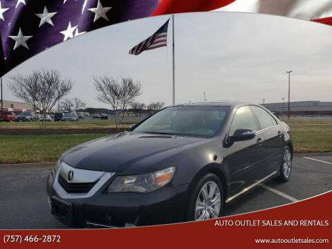 2009 Acura RL for sale at Auto Outlet Sales and Rentals in Norfolk VA