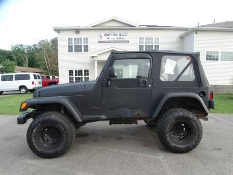 2004 Jeep Wrangler for sale at SOUTHERN SELECT AUTO SALES in Medina OH