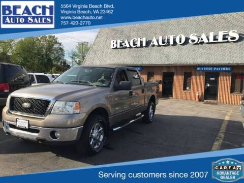 2006 Ford F-150 for sale at Beach Auto Sales in Virginia Beach VA