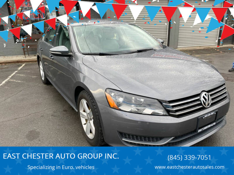 2012 Volkswagen Passat for sale at EAST CHESTER AUTO GROUP INC. in Kingston NY