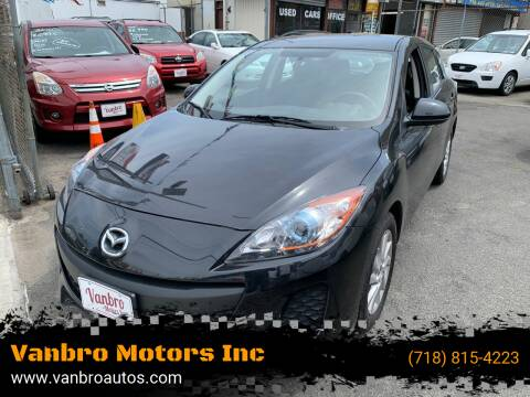 2013 Mazda MAZDA3 for sale at Vanbro Motors Inc in Staten Island NY