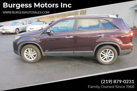 2014 Kia Sorento for sale at Burgess Motors Inc in Michigan City IN