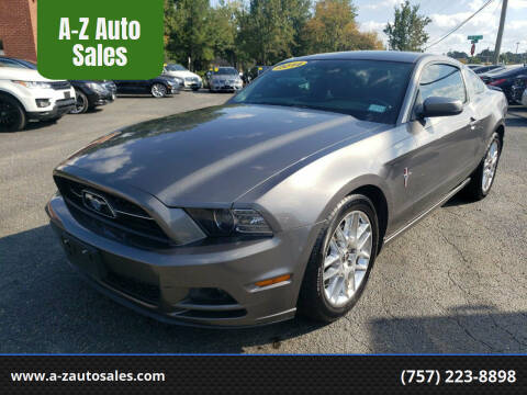 2014 Ford Mustang for sale at A-Z Auto Sales in Newport News VA