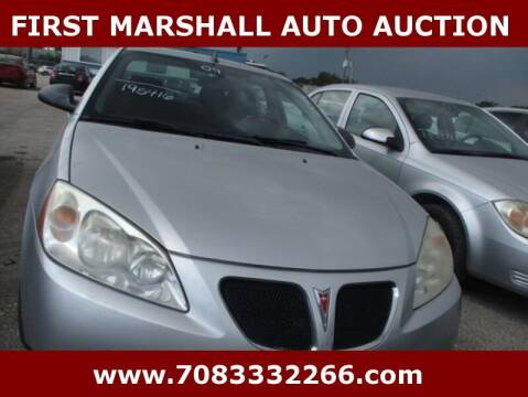 2009 Pontiac G6 for sale at First Marshall Auto Auction in Harvey IL